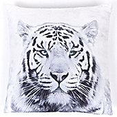 Photographic Tiger Square Cushion, Zoo Wildlife Safari