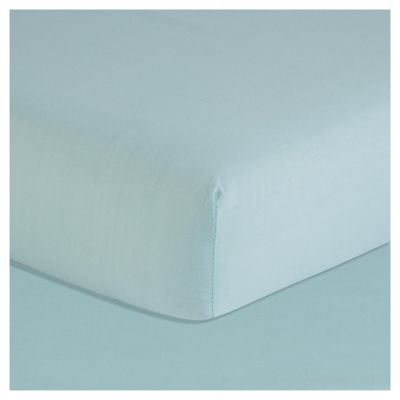 Tesco Fitted Sheet Single Soft Teal
