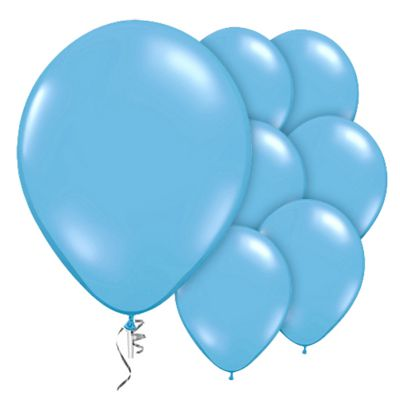Pale Blue 9 inch Valved Latex Balloons - 10 Pack