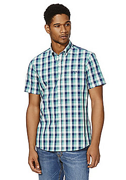 F&F Checked Short Sleeve Shirt - Green