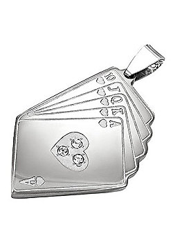Urban Male Men's Pendant Ace Is High Playing Card Design In Stainless Steel