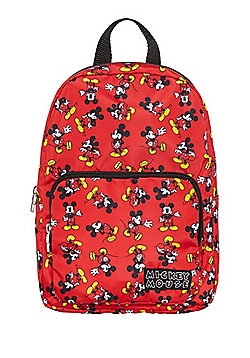 Disney Mickey Mouse Print Backpack - Red