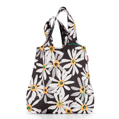 Reisenthel Mini Maxi Shopper Foldup Shopping Bag, Orange Daisy AT7038