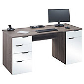Maja Marlborough Desk - Truffle Oak and High Gloss White