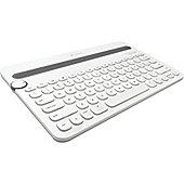 Logitech K480 Keyboard - Wireless Connectivity - White