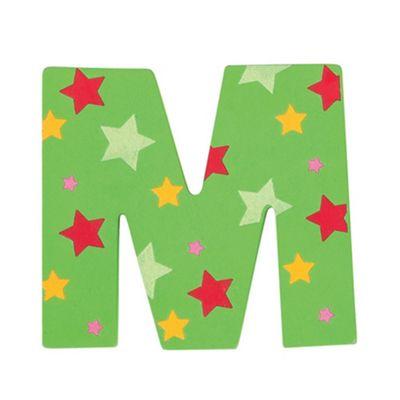 Bigjigs Toys Star Letter M (Green)
