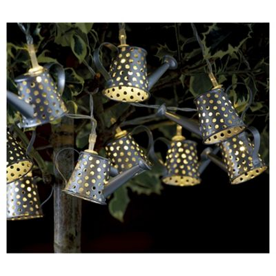 buy 10 watering can string solar lights from our solar. Black Bedroom Furniture Sets. Home Design Ideas