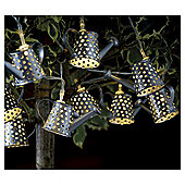 10 Watering Can String Solar Lights