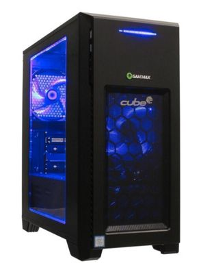 Cube Ravager i7 Quad Core Blue LED Gaming PC 16GB RAM WIFI 120GB SSD & 1TB Hard Drive GeForce GTX 1070 8GB Win 10