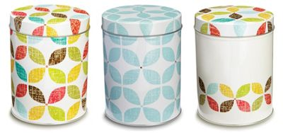 Cooksmart Retro Design Storage Canisters, Set of 3