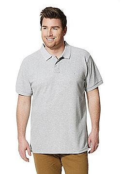 Jacamo Longer Length Polo Shirt - Grey