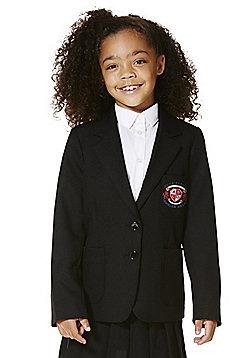 Girls Embroidered Blazer - Black