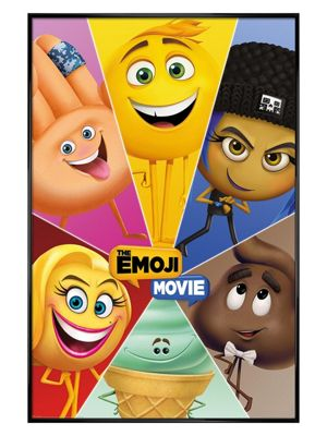 The Emoji Movie Gloss Black Framed Star Characters Poster 61 x 91.5cm