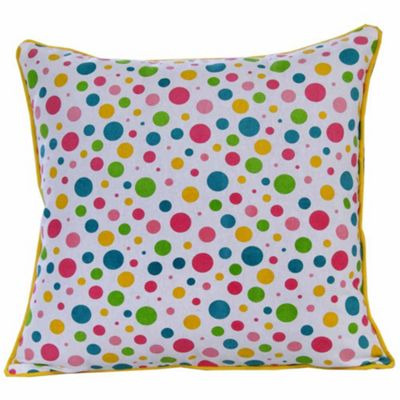 Homescapes Cotton Multi Colour Polka Dots Cushion Cover, 60 x 60 cm