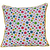 Homescapes Cotton Multi Colour Polka Dots Scatter Cushion, 60 x 60 cm