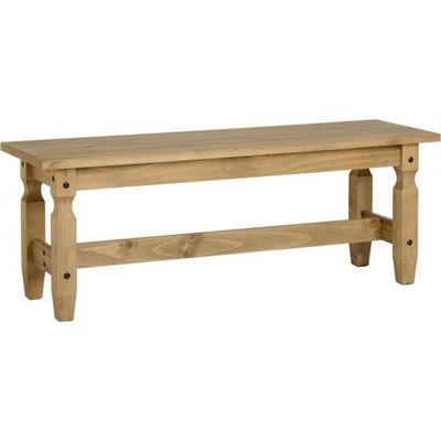 Corona Mexican 4 Dining Bench Distressed Waxed Pine