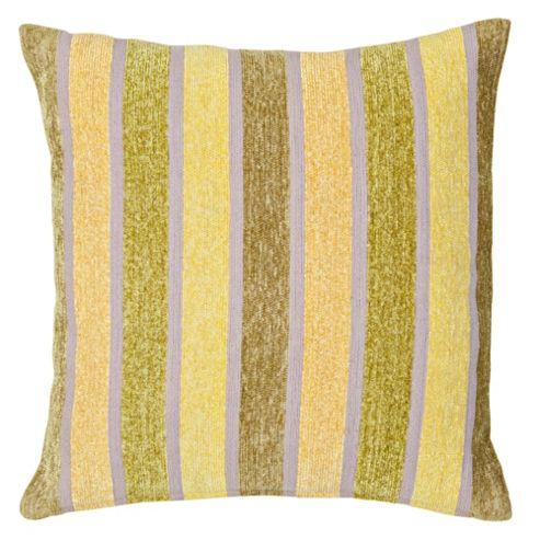 F&F Home Green Stripe Cushion