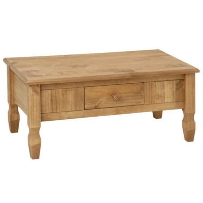 Cotswold Waxed Pine Coffee Table with Drawer