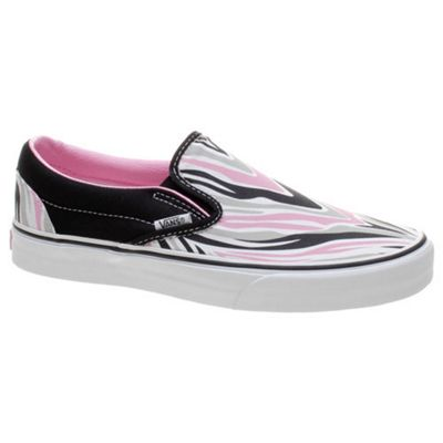 Vans Classic Slip On (Maneater) Black/Prism Pink Shoe