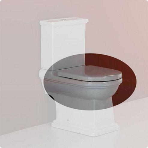 RAK Empire Wrap Over Plastic Toilet Seat with Soft Close Hinge