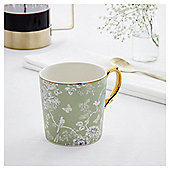 Fox & Ivy Green Pastel Aviary Mug