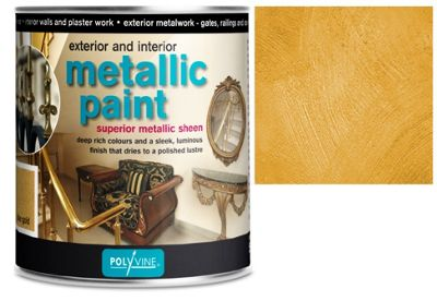 Polyvine Acrylic Metallic Paint - Bright Gold - 50ML