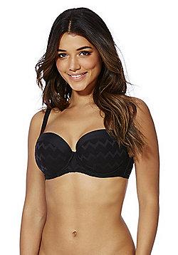 Curvy Kate High Voltage Balcony Bikini Top - Black