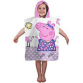 Peppa Pig Happy Hooded Poncho Towel