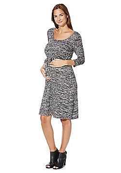Mamalicious Space Dye Jersey Maternity Dress - Grey