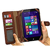 "Navitech ""Book"" Style Brown Case for the Lenovo A7-10 7"" Android Tablet"
