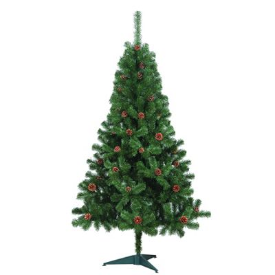 6ft Gardman Whistler Artificial Christmas Tree with Pine Cones