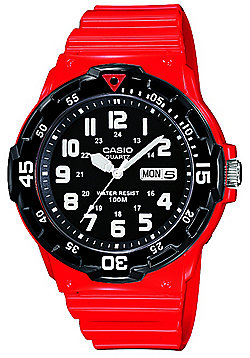 Casio Collection Mens Red Day & Date Watch MRW-200HC-4BVEF