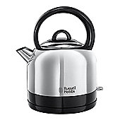 Russell Hobbs Dome Style Stainless Steel Kettle, Rapid Boil Water, 360° Base - 1.5 L
