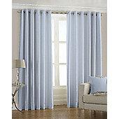 Faux Silk Eyelet Curtains, Duck Egg 168x183cm