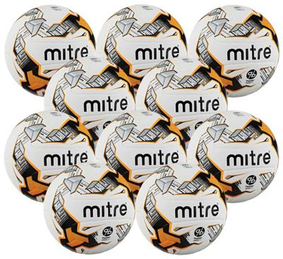 Mitre Ultimatch Footballs, 10 Pack, Size 5