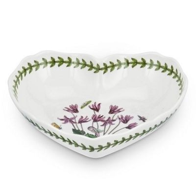 Portmeirion Botanic Garden Heart Dish 9in By 8in