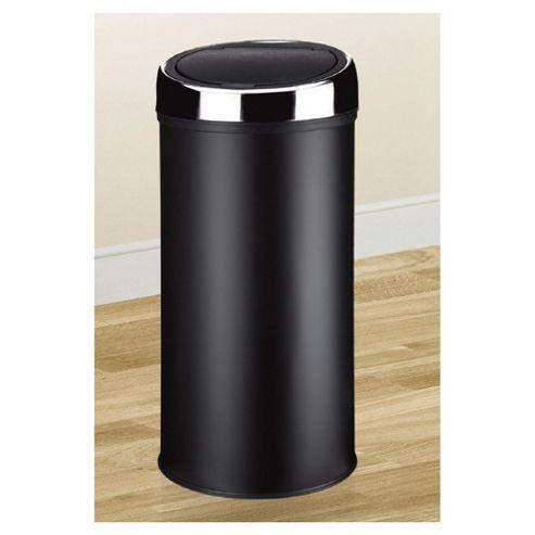 30L Touch Top Stainless Steel Kitchen Bin, Black