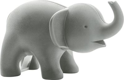 Qualy ELE TAPE Elephant Tape Dispenser and Clip Holder in Grey