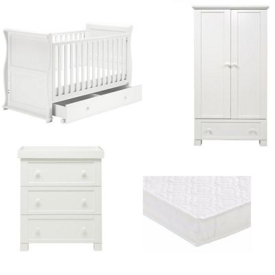 East Coast Alaska 3 Piece Nursery Room Set with Pocket Sprung Mattress