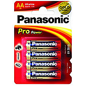 Panasonic Pro Power Premium Alkaline AA Batteries 4 Pack