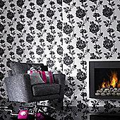 Superfresco Rosey Wallpaper - Black