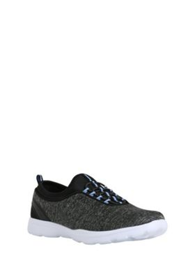 F&F Active Mock Lace Sock Trainers Grey Adult 4