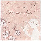 Enchanted Flower Girl Wedding Thank You Card