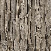 Driftwood Wallpaper - Natural - 273304