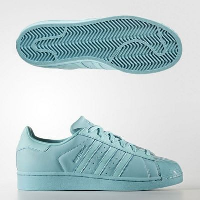 adidas Originals Women's Superstar Glossy Toe Leather Trainers - 6