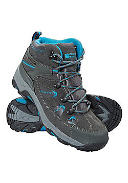 Mountain Warehouse Womens Fully Waterproof Boots with Suede and Mesh Upper - Aqua