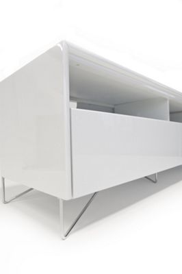 RGE Julia 2 Drawers Multi-Media TV Storage and Display Unit - Lacquer White High Gloss