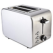 Tesco 2 Slice Stainless Steel Toaster