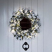 50cm Snowy Christmas Wreath with Micro LED Star Lights