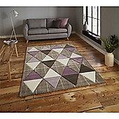 Brooklyn Triangles Rug - Purple